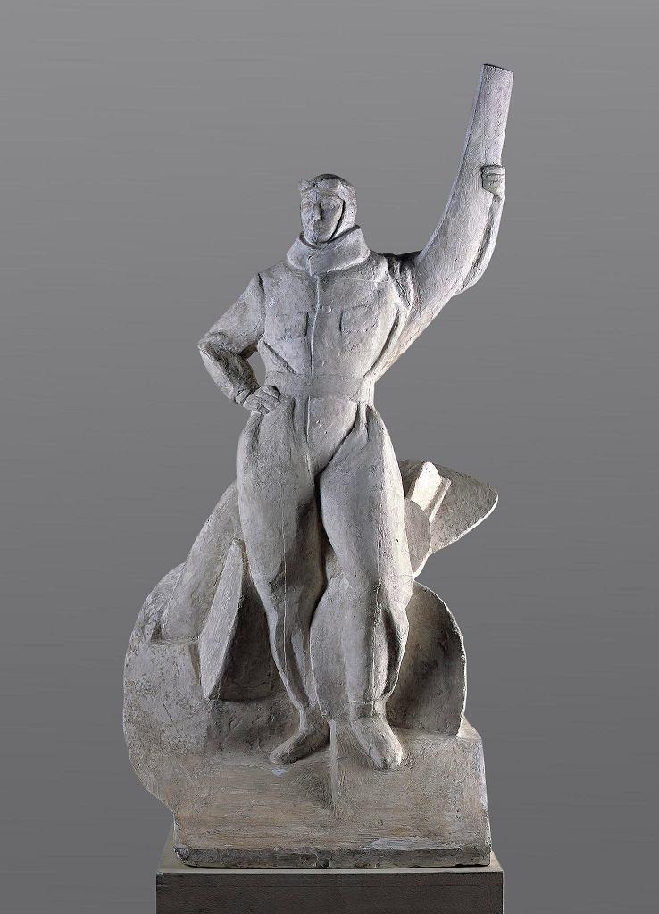 Edward Wittig, projekt pomnika lotnika.Wystawa 'Niepodległa 1918' w Muzeum Narodowym w Warszawie / LIGIER PIOTR