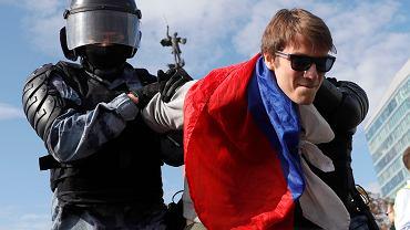 Zatrzymania na ulicach Moskwy podczas antyrządowych protestów
