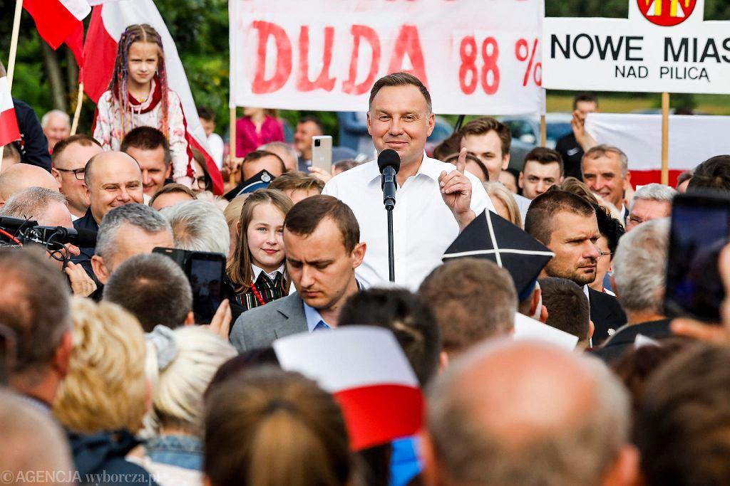 Wybory prezydenckie 2020. Andrzej Duda w Odrzywole dziękował za poparcie