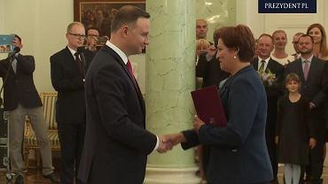 Halina Szymańska odebrała nominację z rąk prezydenta