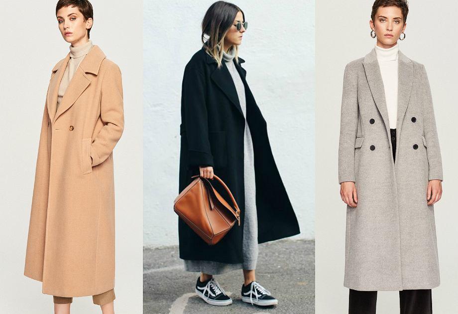 Długi płaszcz na jesień i zimę