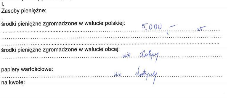 Oszczędności Konrada Fijołka