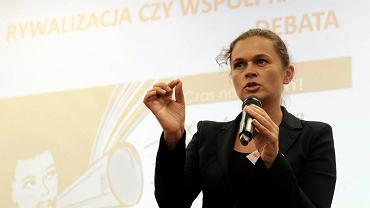 Barbara Nowacka podczas Ogólnopolskiego Kongresu Kobiet. Poznań, MPT, 10 września 2017