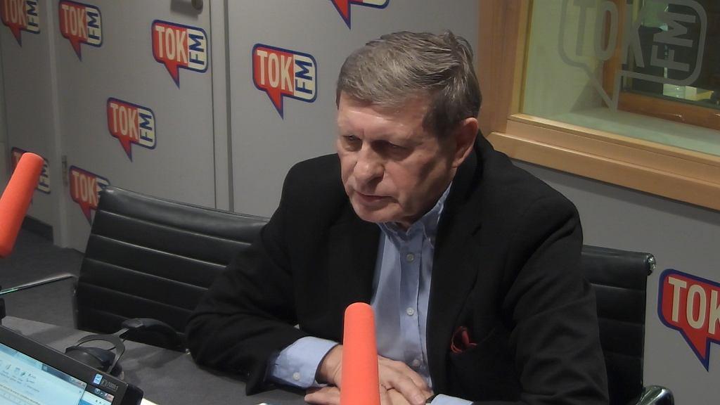 Prof. Leszek Balcerowicz w studio Radia TOK FM.