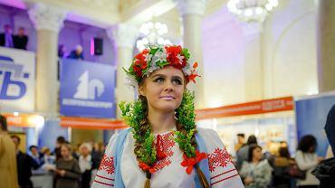 Kobieta w tradycyjnym stroju białoruskim
