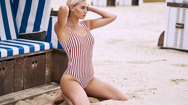 plaża, strój, stylizacja na lato