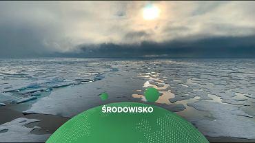 Roztopiony lód morski w Arktyce