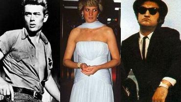 James Dean, księżna Diana i John Belushi