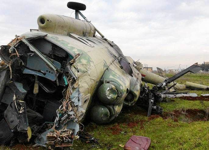 Syryjski śmigłowiec zestrzelony przez rebeliantów 8 września