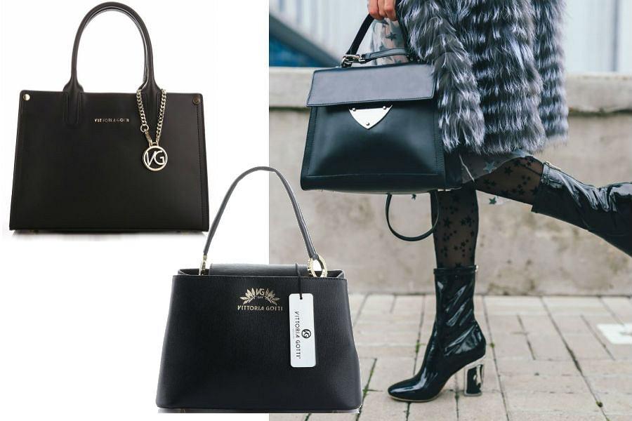 Czarne torebki Vittoria Gotti
