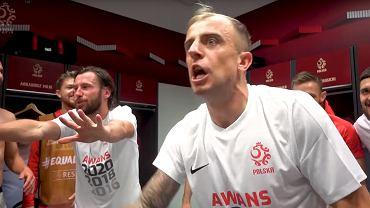 Kamil Grosicki i radość reprezentantów Polski z awansu na Euro 2020