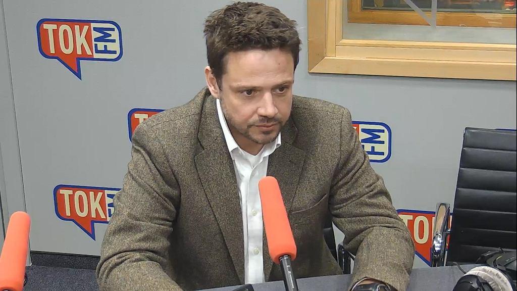 Rafał Trzaskowski, poseł Platformy Obywatelskiej, w studiu Radia TOK FM.
