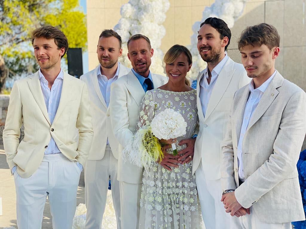 Od lewej: Filip i Kuba Przetakiewicz, Rinke Rooyens, Joanna Przetakiewicz, Alex Przetakiewicz, Roch Rooyens