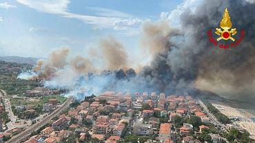 Pożar włoskiego miasta Pescara