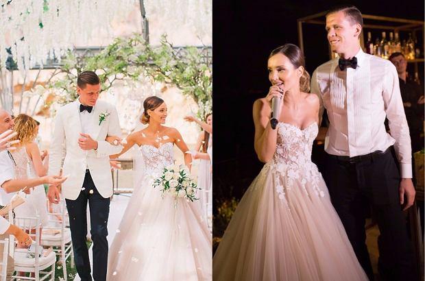 Zdjęcie numer 2 w galerii - Grosicki pokazał zdjęcia ze ślubu. Suknia panny młodej ładna, ale JEJ nie przebiła. To ona miała najpiękniejszą suknię wśród WAGs
