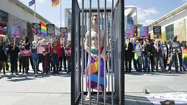 Demonstracja przeciwko prześladowaniom czeczeńskich gejów, Berlin, 30 kwietnia 2017