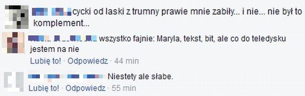 Komentarze z Facebooka