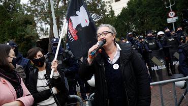 Marta Lempart podczas protestu 'Idziemy na Sejm'