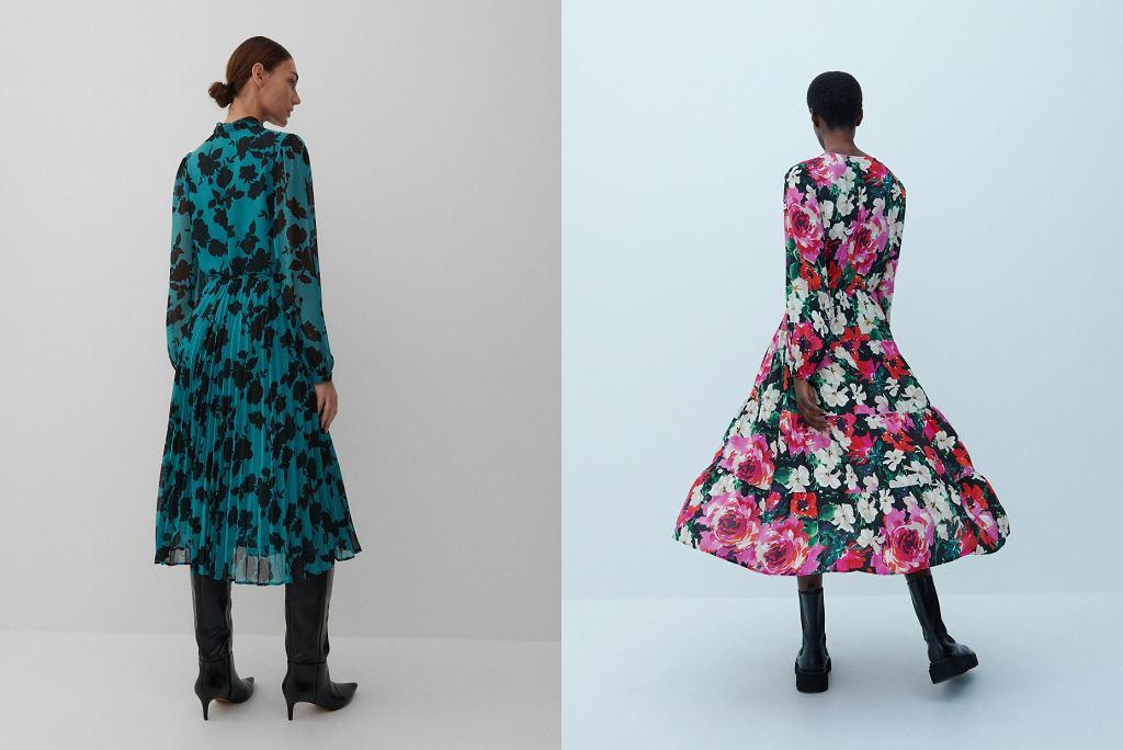sukienki w kwiaty jesień