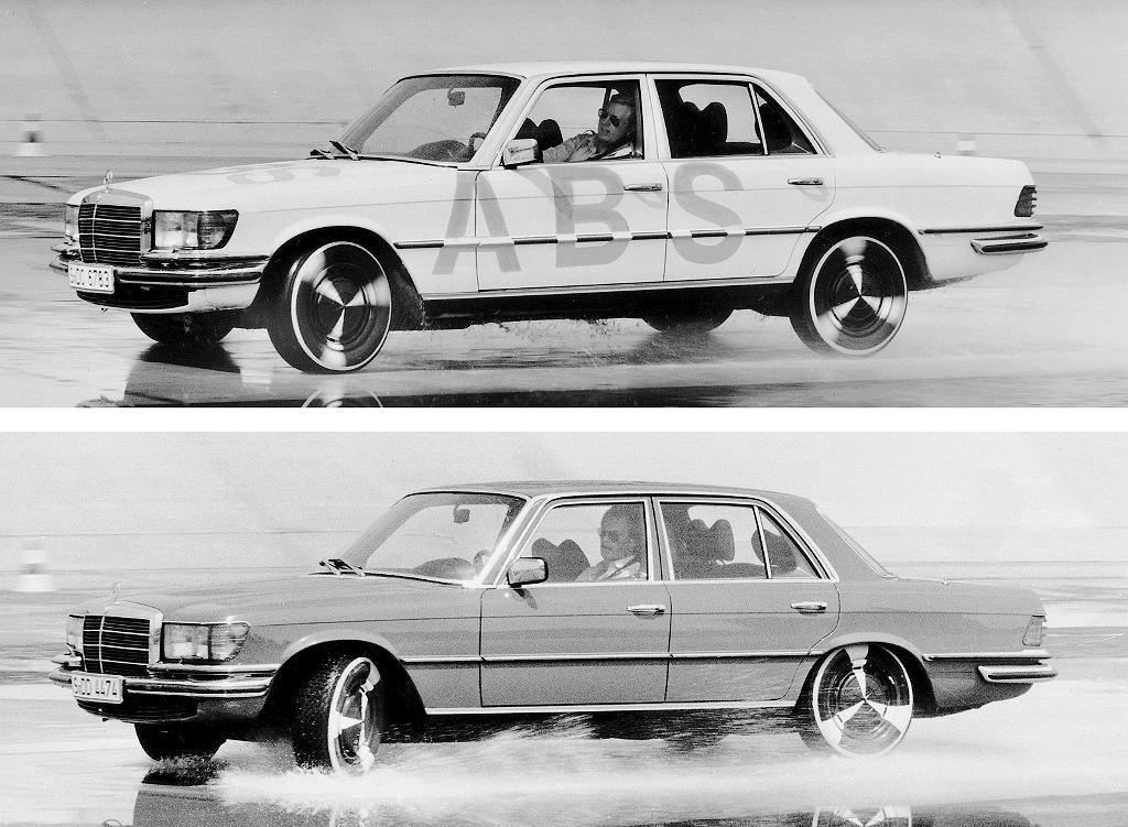 Testy układu ABS w Mercedesie W116