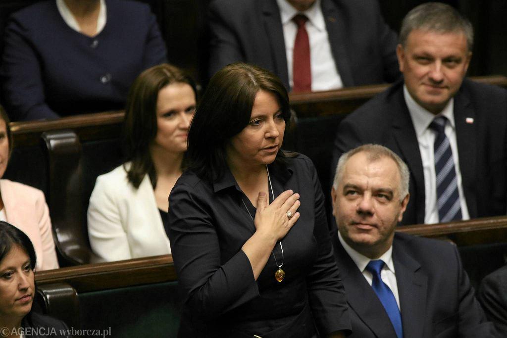 Posłanka PiS Joanna Lichocka, wcześniej tzw. dziennikarka niepokorna