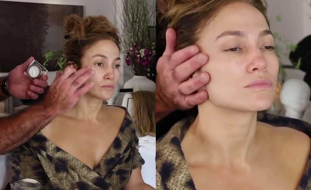 Jennifer Lopez pokazała się bez makijażu