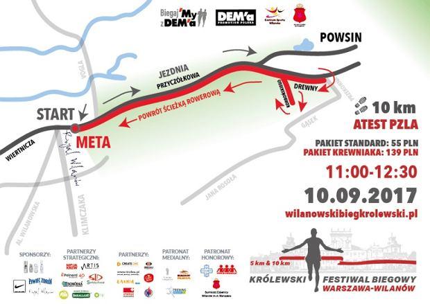 Trasa biegu na 10 km