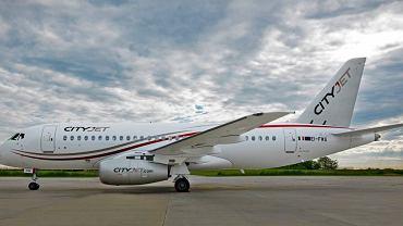 Suchoj Superjet 100 w barwach irlandzkiej linii CityJet. Firma, jako jedyna w Europie użytkowała te maszyny.