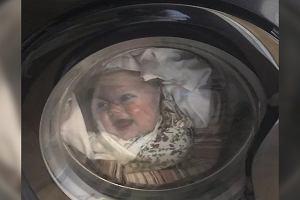 Tata zobaczył swoje dziecko w pralce. Przeraził się tym widokiem