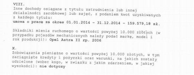 Oświadczenie majątkowe prezydenta Bydgoszczy, Rafała Bruskiego