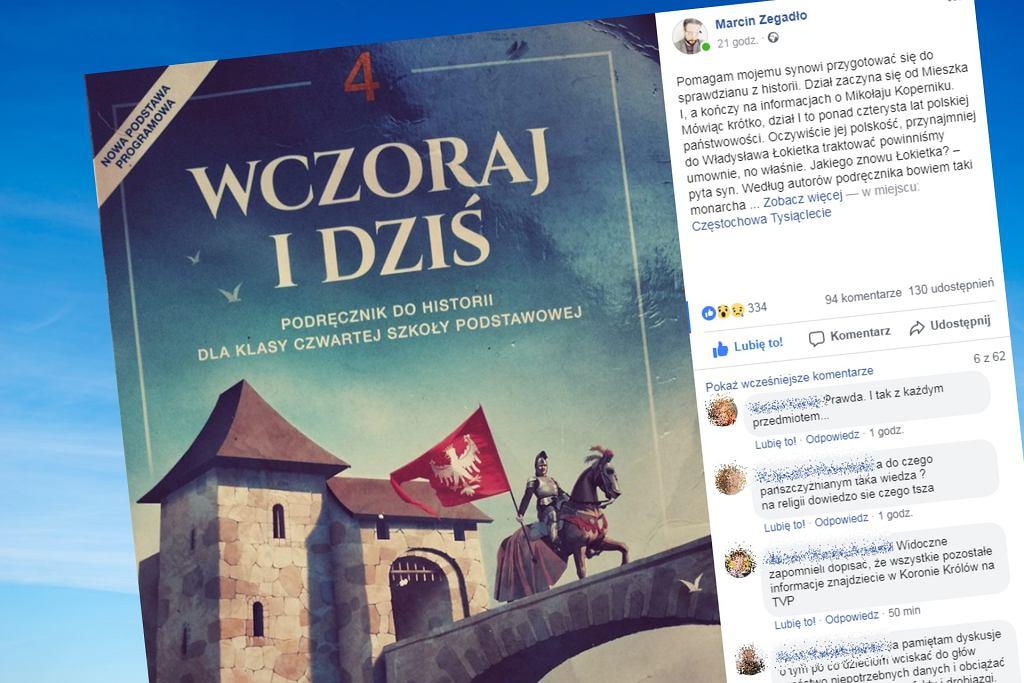 - z podręcznika dowiemy się o Mieszku I, o Bolesławie Chrobrym, następnie powstaje równo trzystuletnia dziura, ponieważ kolejnym polskim monarchą okazuje się być dopiero Kazimierz Wielki - opisuje pan Marcin
