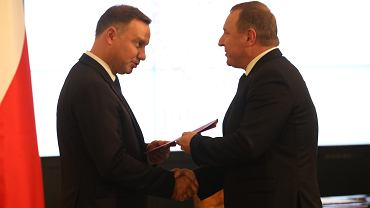 Prezydent Andrzej Duda i prezes TVP Jacek Kurski