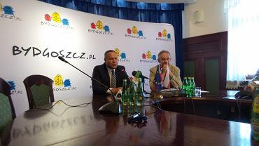 Prezydent Rafał Bruski i Wiktor Jakubowski, który prowadził negocjacje w sprawie sprzedaży Polonii