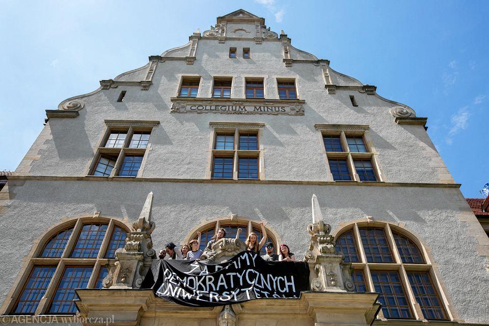 Protest studentów na UAM