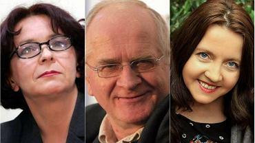 Kandydaci komisji kultury do Rady Mediów, od lewej: Elżbieta Kruk, Krzysztof Czabański, Joanna Lichocka
