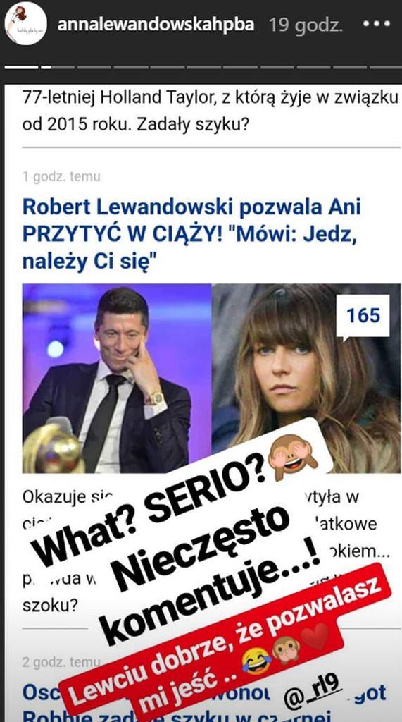 Anna Lewandowska komentuje plotki