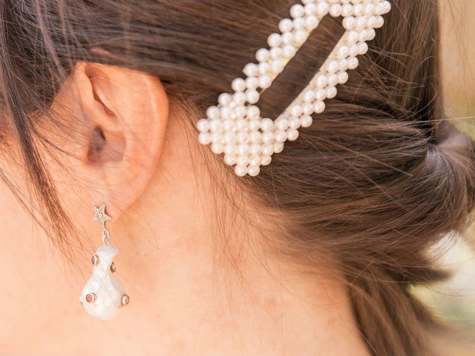 spinki z perłami