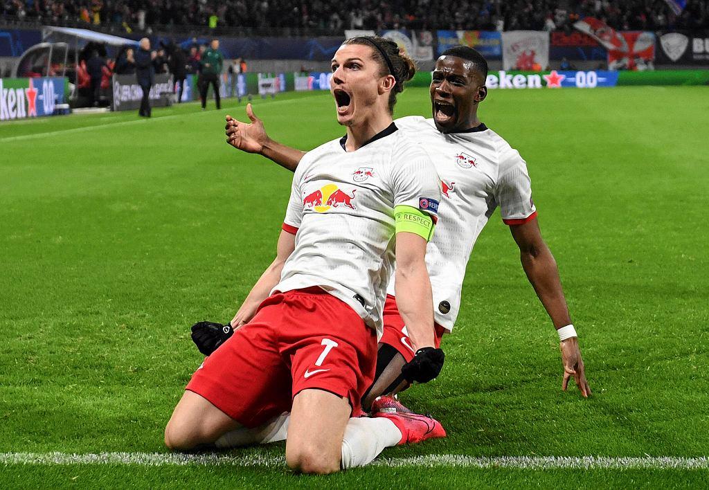 RB Lipsk - Tottenham. Gola świętuje Marcel Sabitzer