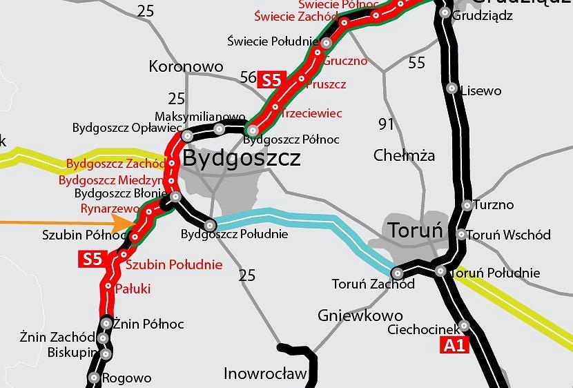 Trasa S5, Szubin Północ - Bydgoszcz