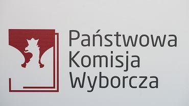 Logo Państwowej Komisji Wyborczej.