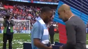 Pep Guardiola udzielił reprymendy Raheemowi Sterlingowi tuż po ceremonii wręczenia pucharu Anglii