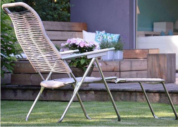 Elegancki leżak ogrodowy