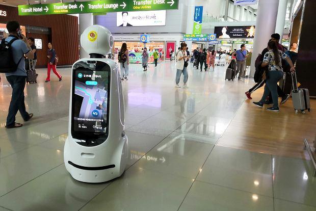 Autonomiczne roboty LG jeżdżą już po lotnisku w Seulu