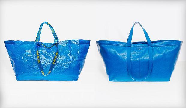 Balenciaga zaprojektowała torbę uderzająco podobną do popularnej niebieskiej torby z Ikei.