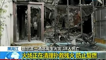 Pożar hotelu w Harbin