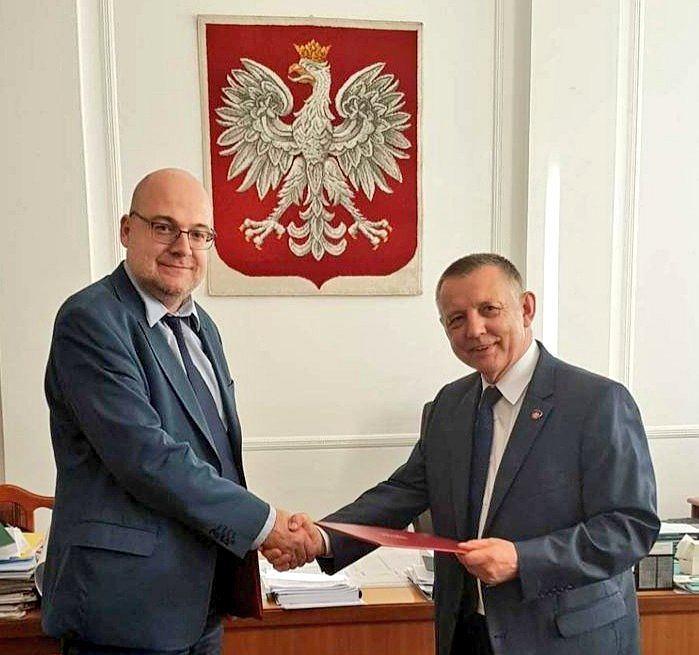 Piotr Walczak, szef KAS, i Marian Banaś, minister finansów