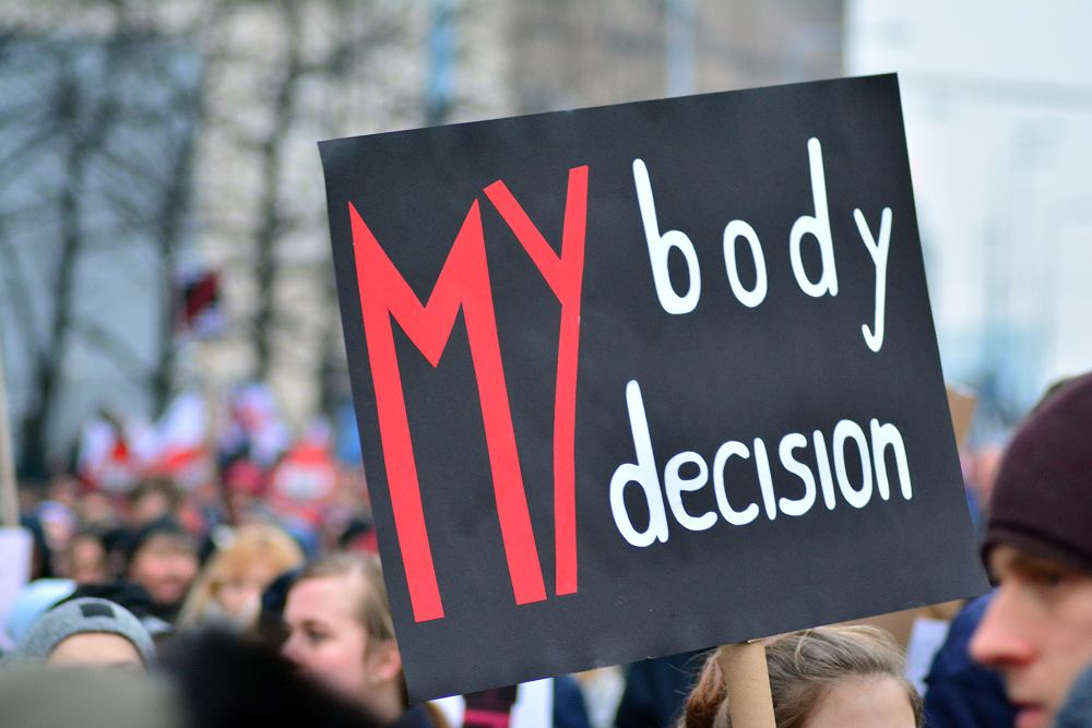 Moje ciało, moja decyzja - jedno z haseł podczas protestów po ogłoszeniu orzeczenia Trybunału Konstytucyjnego