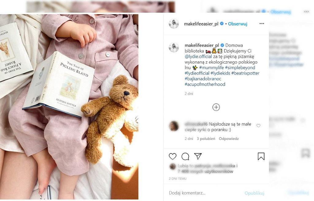 Kasia Tusk czyta anglojęzyczne książki dziecku