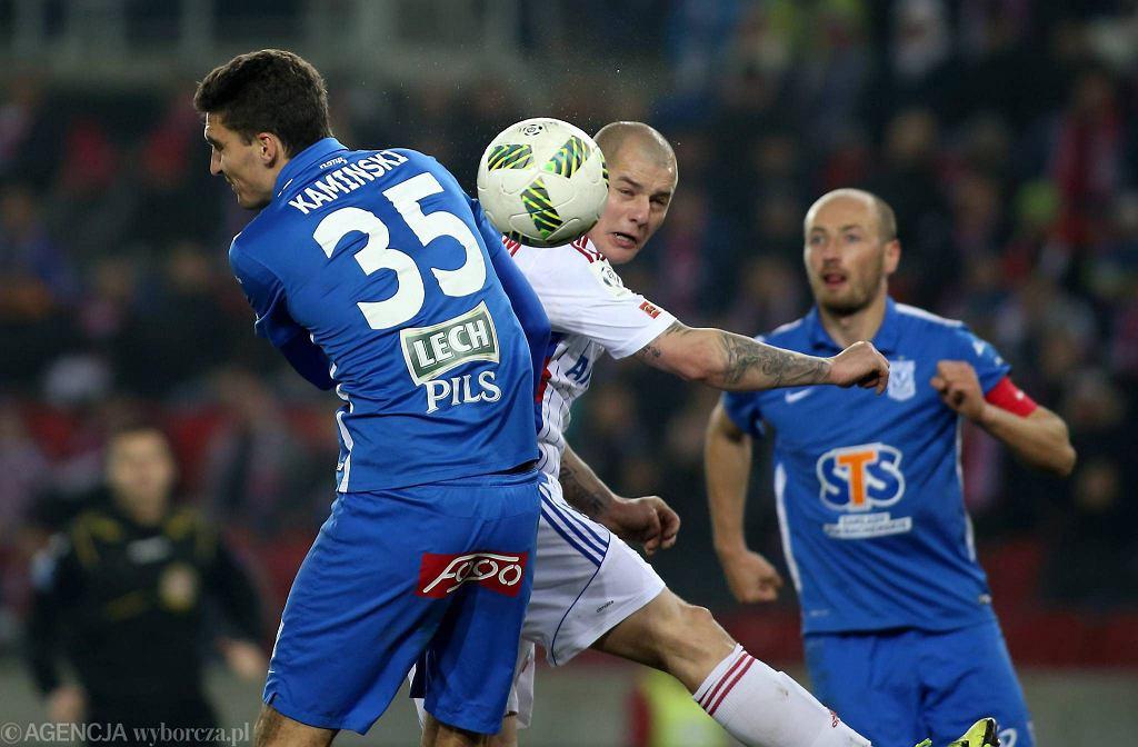 Górnik Zabrze - Lech Poznań 0:2. Marcin Kamiński, Łukasz Trałka