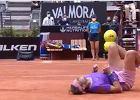 Chwile grozy Rafaela Nadala na ATP w Rzymie. Hiszpan padł na kort [WIDEO]